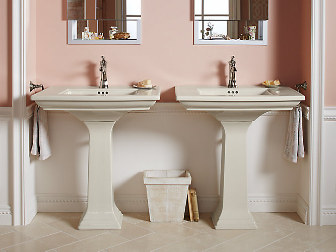 Memoirs Pedestal Sink With Stately Design And Single Hole