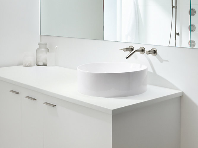 K 14800 vox round vessel sink kohler for Are vessel sinks out of style