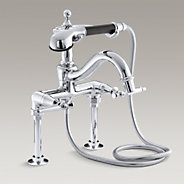Antique™ Lever floor- or wall-mount bath faucet and handshower