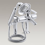Symbol® deck-mount bath faucet with diverter spout and handshower