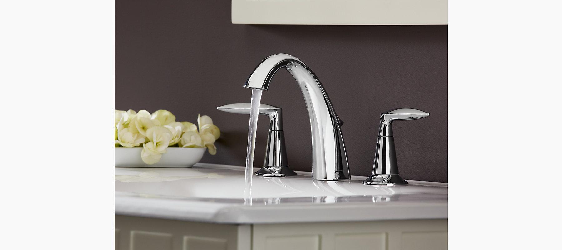 Alteo widespread bathroom sink faucet k 45102 4 kohler for Kohler alteo widespread bathroom faucet