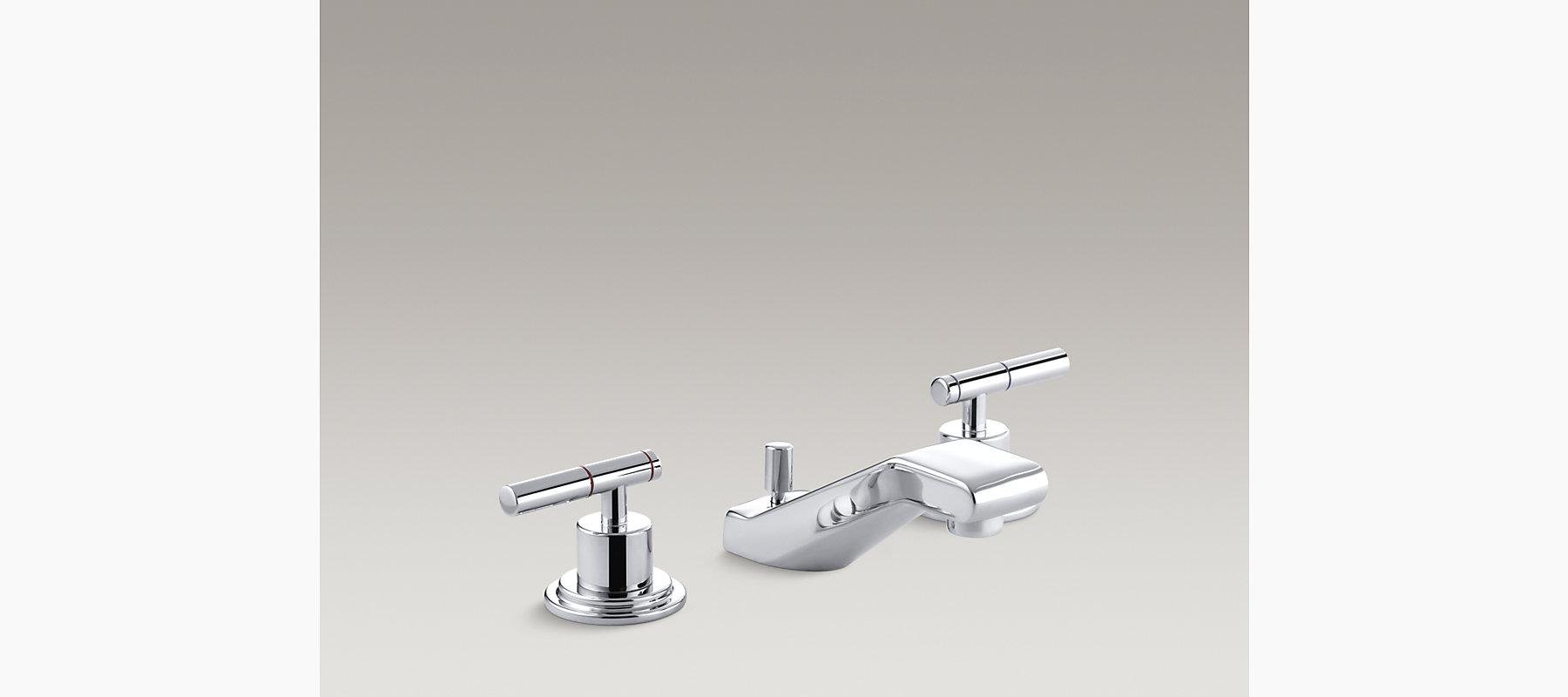 Kohler Elmbrook 8 In Widespread 2 Handle Bathroom Faucet: Taboret Widespread Sink Faucet With Lever Handles