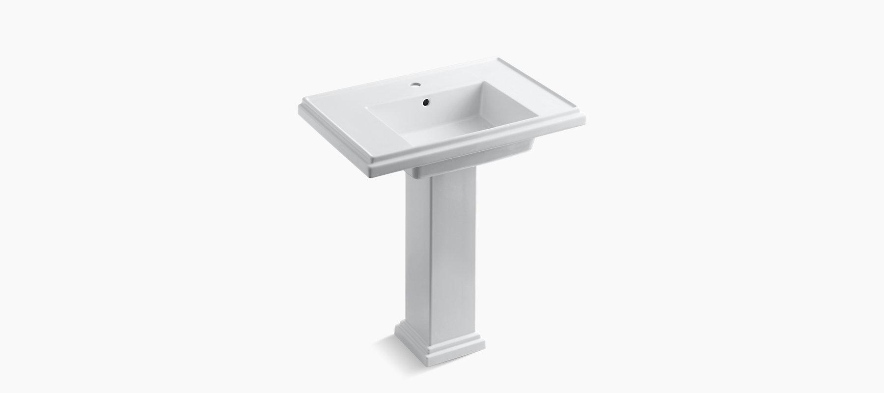 K-2845-1 | Tresham 30-Inch Pedestal Sink with Single ...