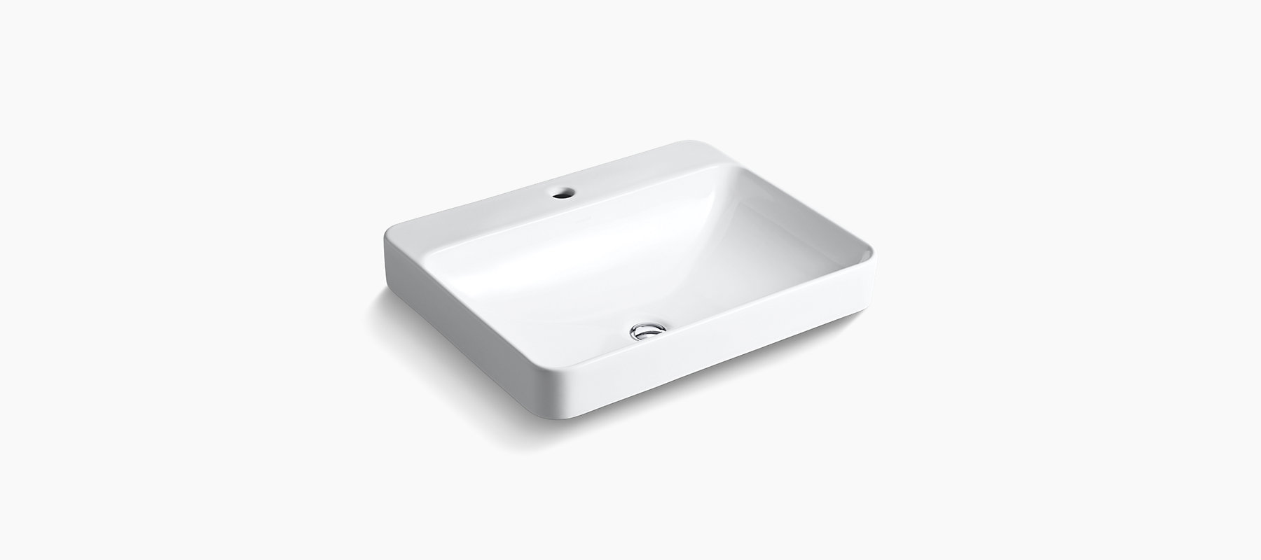 Sink Blank : 2660-1 Vox Rectangle Vessel Sink with Single Faucet Hole KOHLER