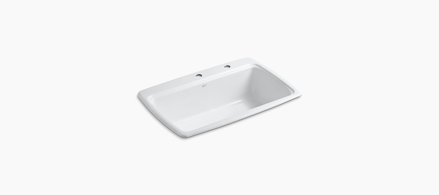 Cape Dory Top Mount Kitchen Sinks With Two Faucet Holes