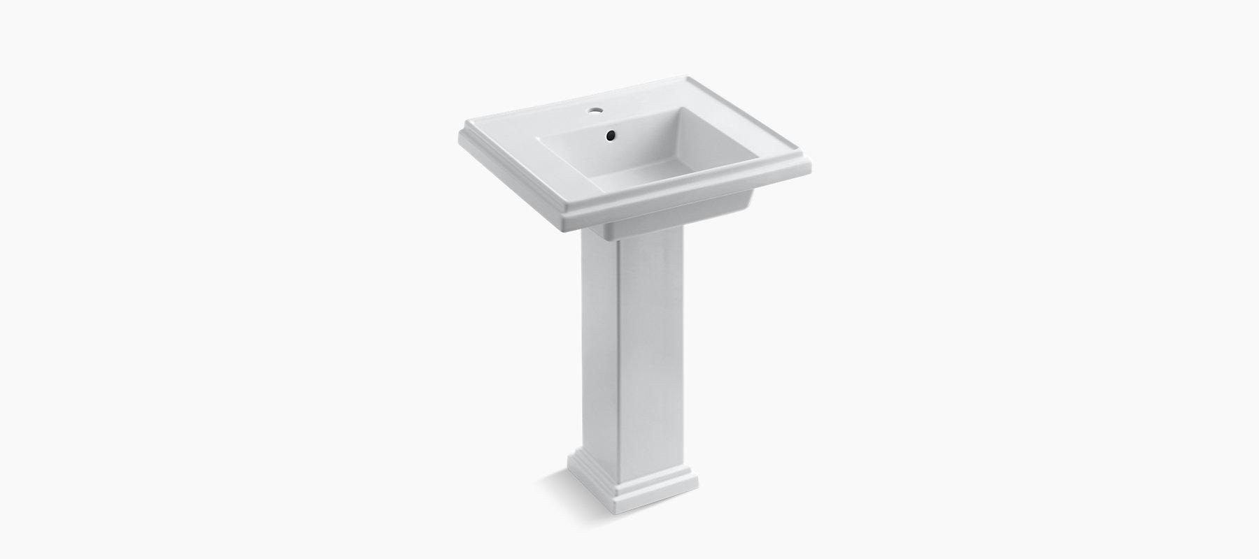 K-2844-1 | Tresham 24-Inch Pedestal Sink with Single ...