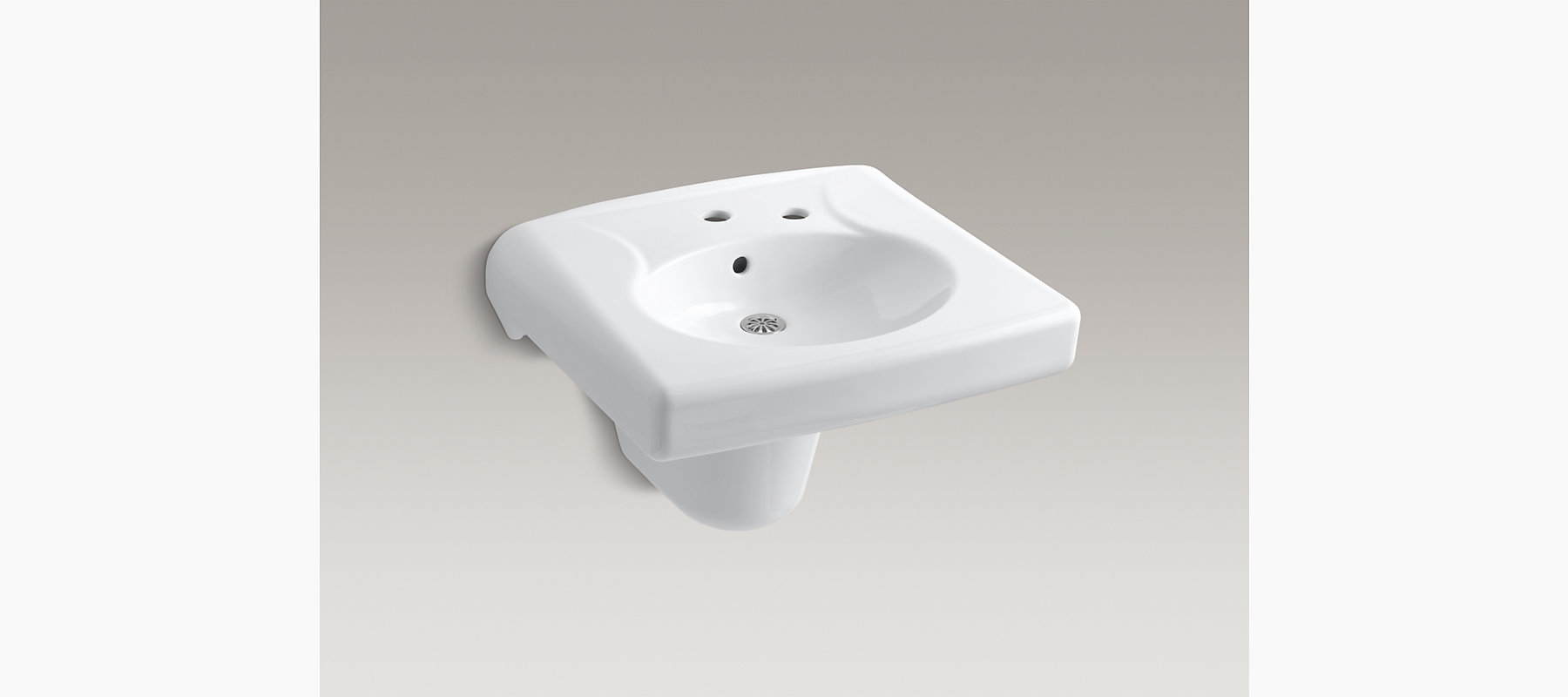 Brenham Wall Mount Sink With Single Faucet Hole K 1999 1r Kohler