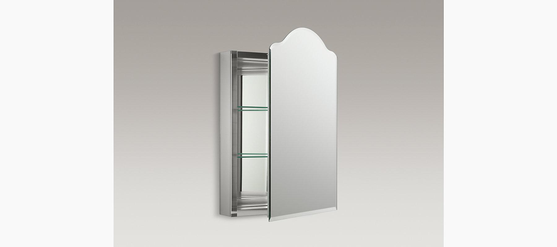 Vintage 20-Inch Medicine Cabinet With Mirrored Door
