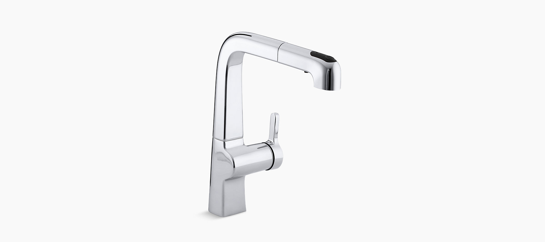 Evoke Single Hole Kitchen Sink Faucet With  Pullout Spout