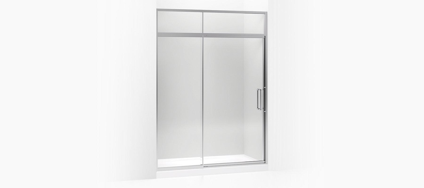 Lattis Semi Frameless Pivot Shower Door With Transom K