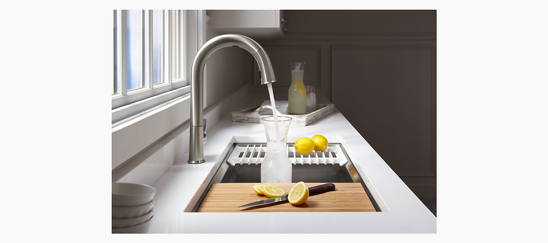 Prolific Under-Mount Stainless-Steel Sink with Accessories K-5540 ...