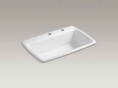 KOHLER   K-5863-2   Cape Dory Top-Mount Kitchen Sinks with Two ...