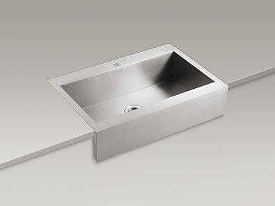 KOHLER  K-3942-1   Vault Apron-Front Top-Mount Sink with Single ...