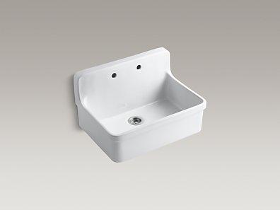 7 Inch Apron Front Sink : KOHLER K-12700 Gilford 30-Inch Apron-Front Kitchen Sink