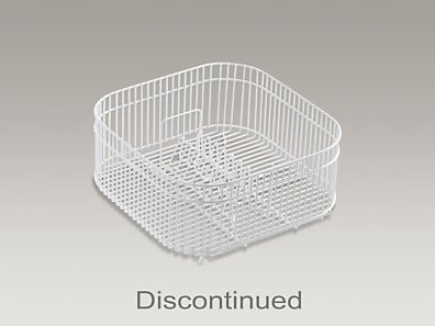 Coated wire rinse basket for Undertone? kitchen sinks, 16-1/2