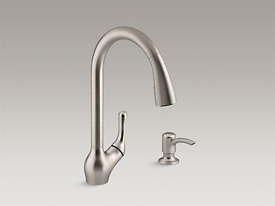 Kohler Barossa Faucet : KOHLER K-R776-SD-VS Barossa Pull-Down Kitchen Sink Faucet w/ Soap ...