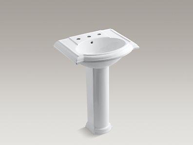 Devonshire Pedestal Sink : KOHLER K-2286-8 Devonshire Pedestal Sink with 8-Inch Centers