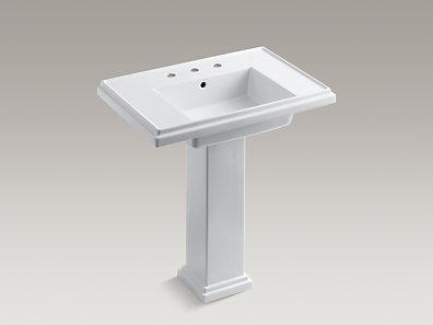 Tresham Pedestal Sink : KOHLER K-2845-8 Tresham 30-Inch Pedestal Sink with 8-Inch ...