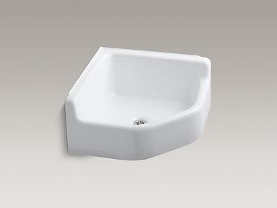KOHLER K-6710 Whitby floor-mounted corner service sink