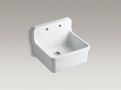24 Inch Apron Sink : KOHLER K-12701 Gilford 24-Inch Apron-Front Kitchen Sink