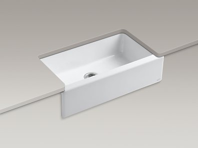 Apron Sink With Faucet Holes : ... 6546-4U Dickinson Apron-Front Kitchen Sink with Four Faucet Holes
