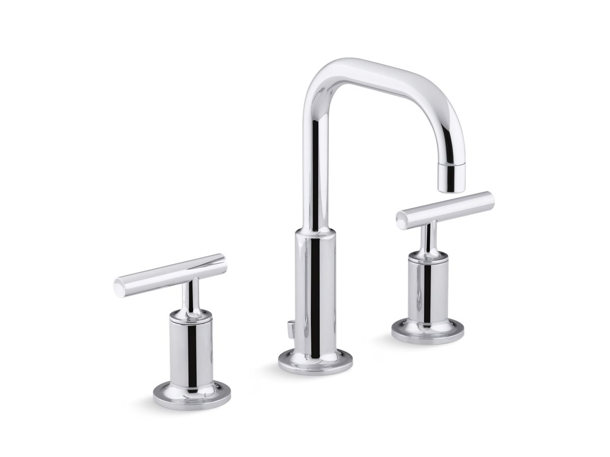 Purist Widespread Sink Faucet with Low Lever Handles