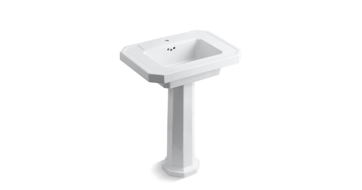 Kathryn Fireclay Basin And Pedestal With Single Faucet