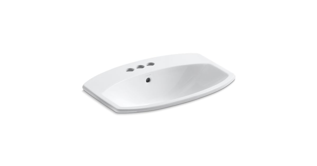Cimarron Drop In Sink With 4 Inch Centers K 2351 4 Kohler