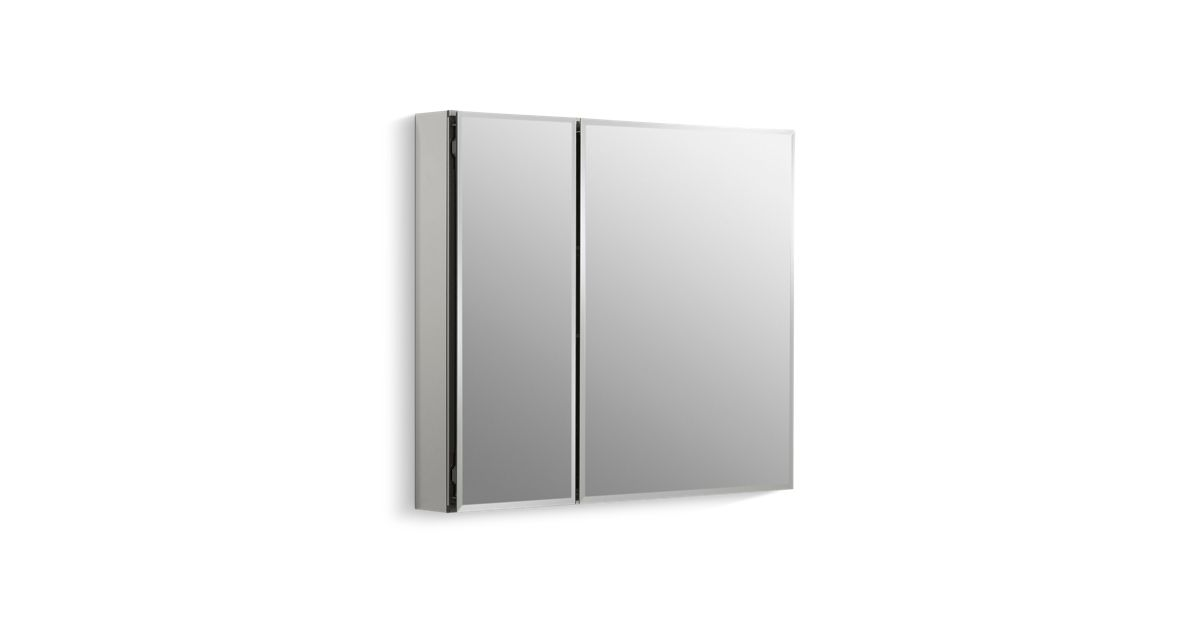 cabinet with mirrored doors and interior k cb clc3026fs kohler