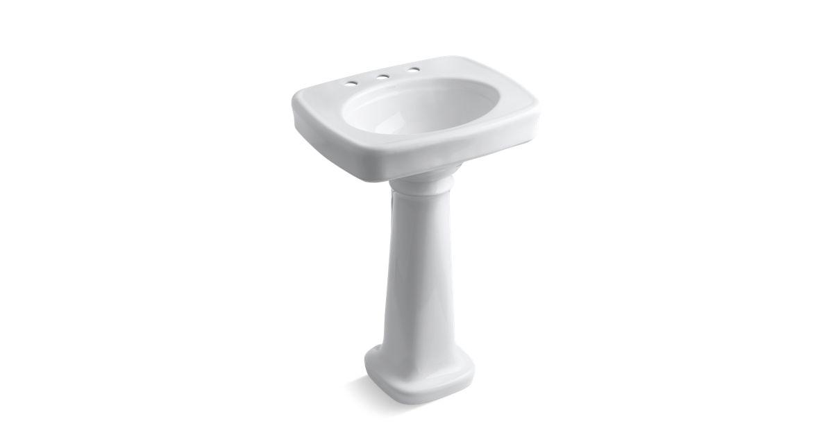. Bancroft Pedestal Sink with 8 Inch Centers   K 2338 8   KOHLER