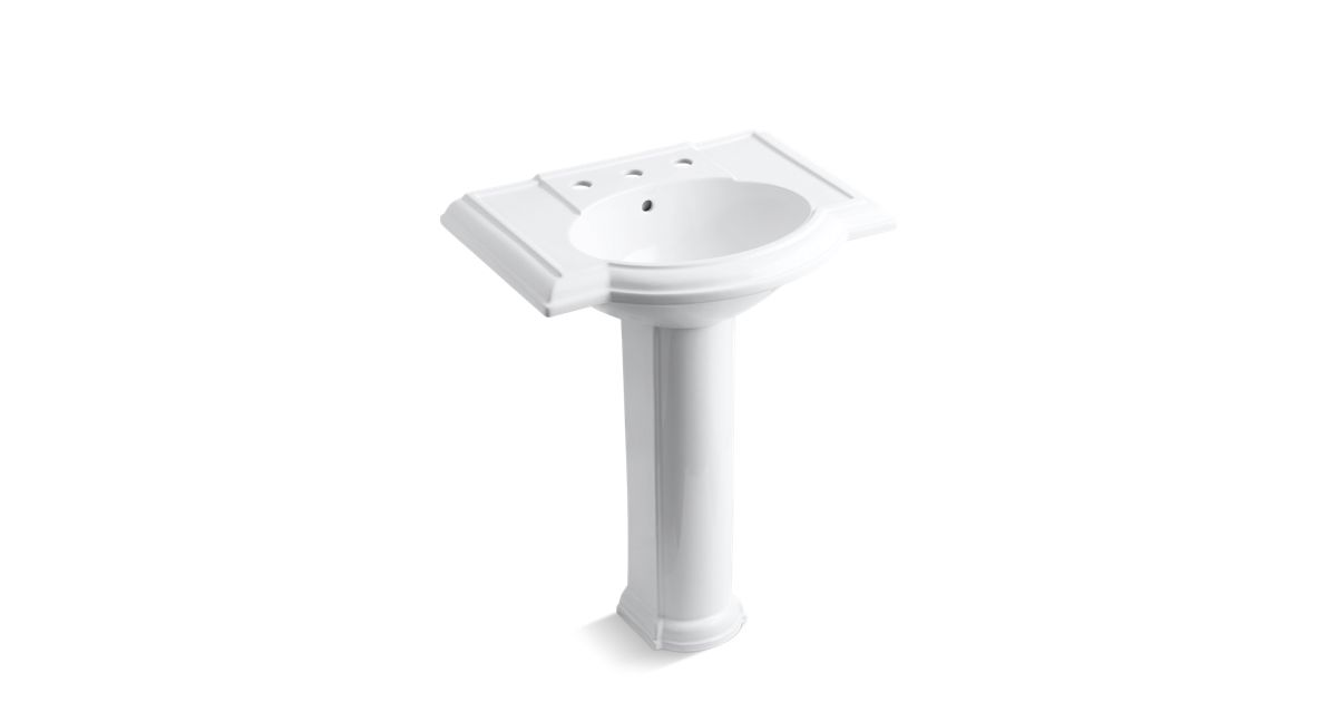 Devonshire Pedestal Sink With 8-Inch Centers
