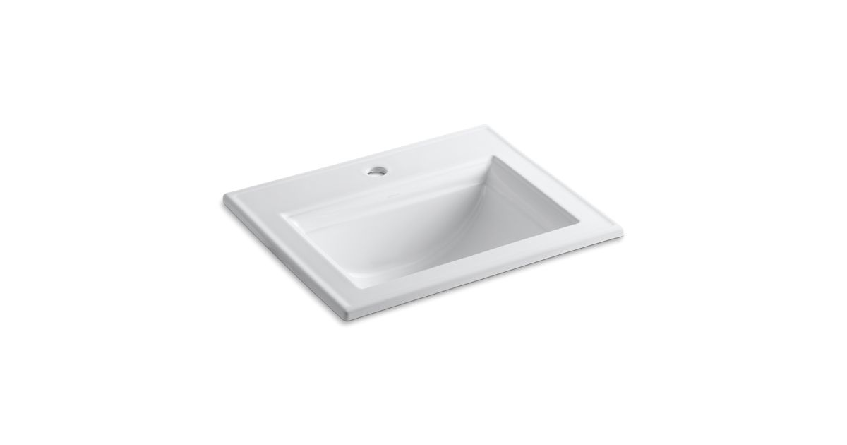 Memoirs Drop In Sink With Stately Design And Single Hole