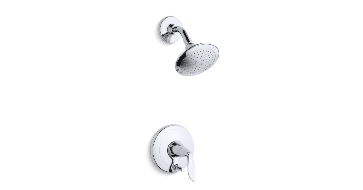 Refinia Shower Trim With Push Button Diverter Valve Not
