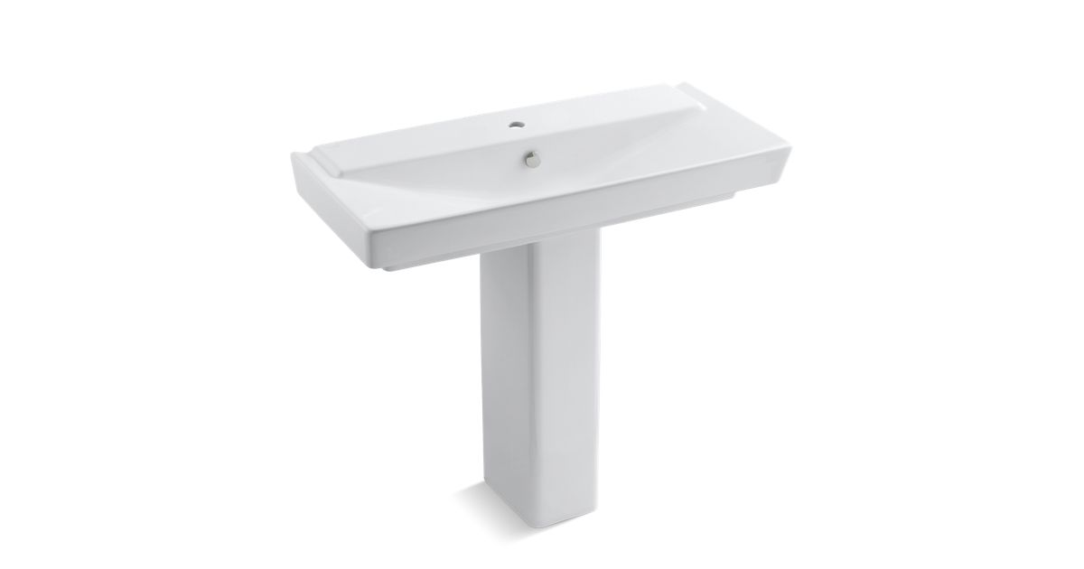 Rêve 39-Inch Sink Basin And Pedestal With Single-Hole