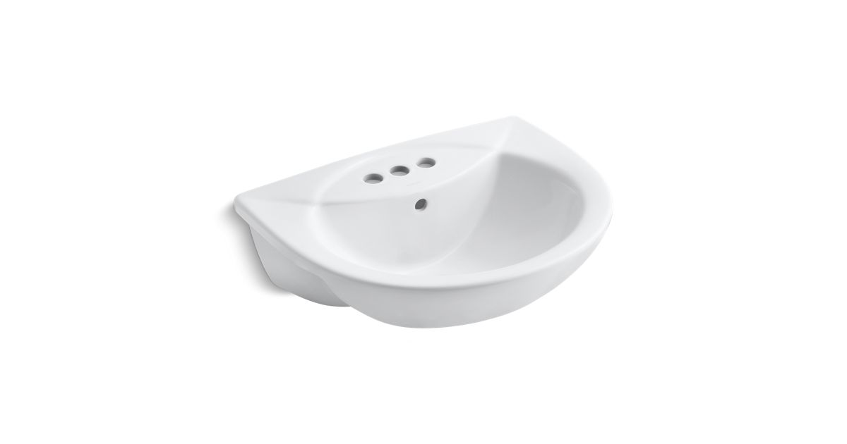 Odeon Semi Recessed Sink With 4 Inch Centers K 11160 4 Kohler