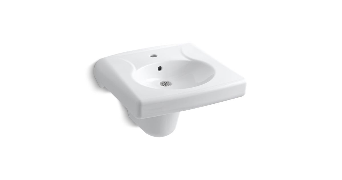 Brenham Wall Mount Sink With Single Faucet Hole K 1999 1