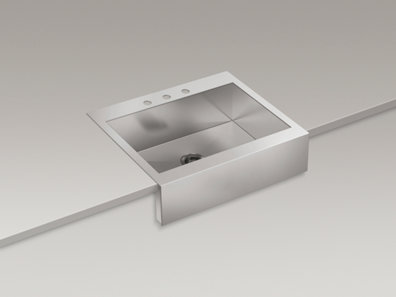 ... 3935-3 Vault Apron-Front Top-Mount Sink with Three Faucet Holes