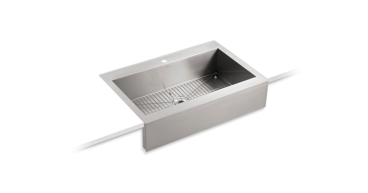 K 3942 1 Vault Apron Front Top Mount Sink With Single