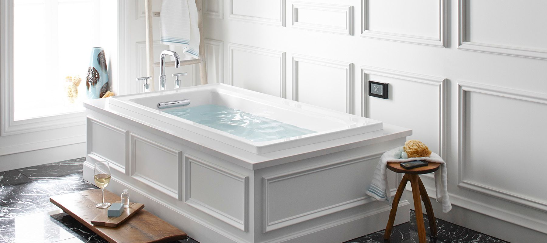 Bathtubs whirlpool bathing products bathroom kohler for Oversized baths