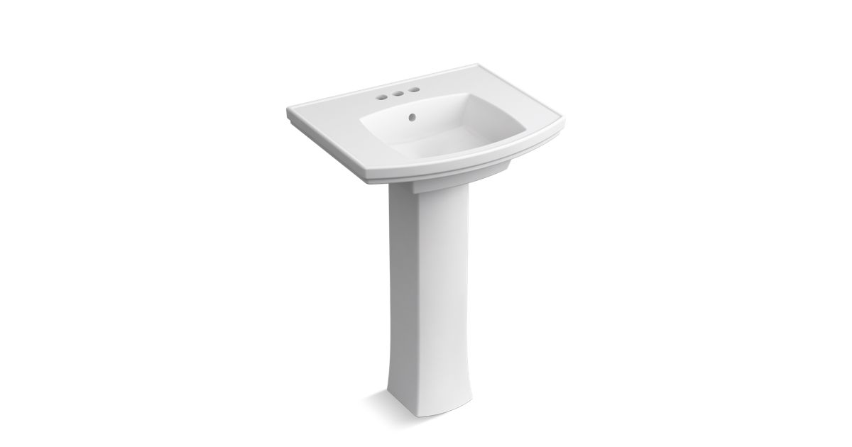 K R6376 4 Elliston Pedestal Bathroom Sink 4 Inch