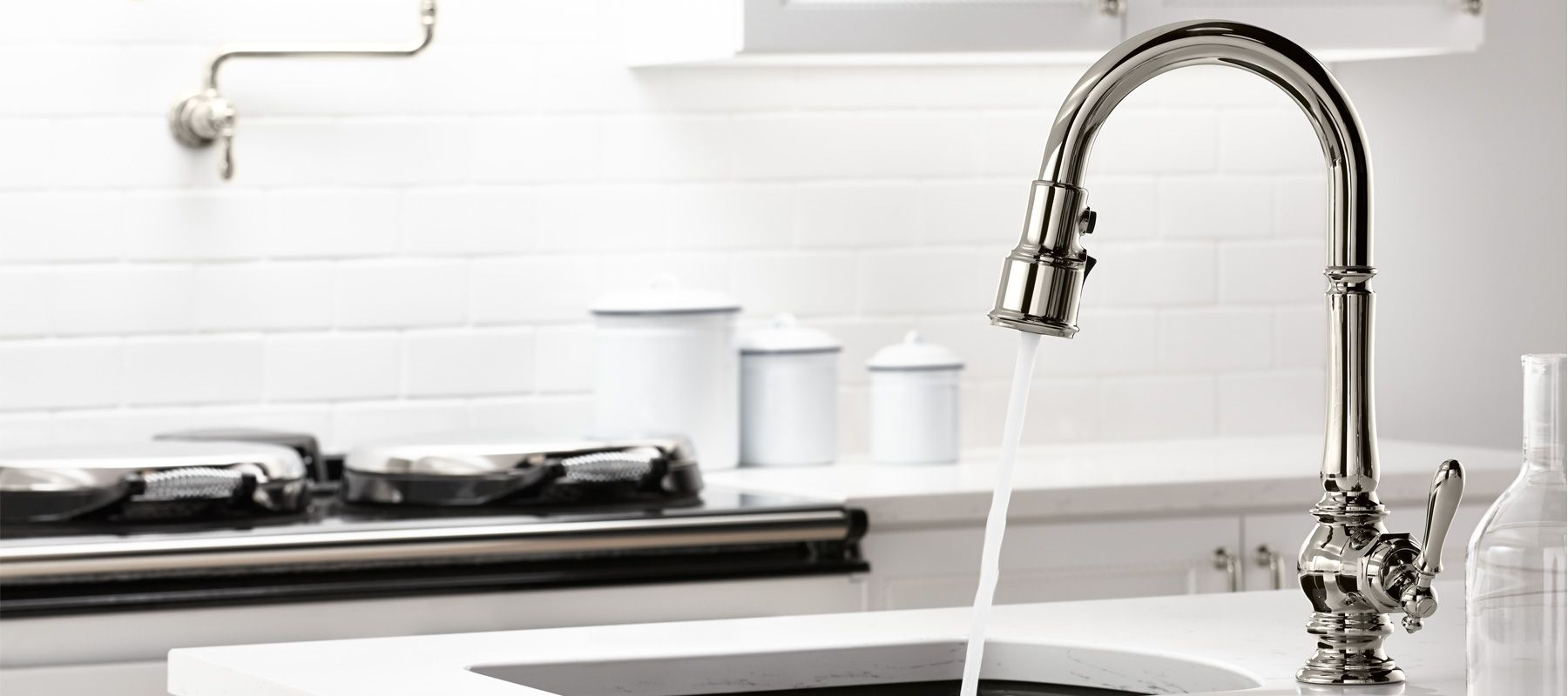 Kohler White Kitchen Faucet : Bar Sink Faucets Kitchen Faucets Kitchen KOHLER