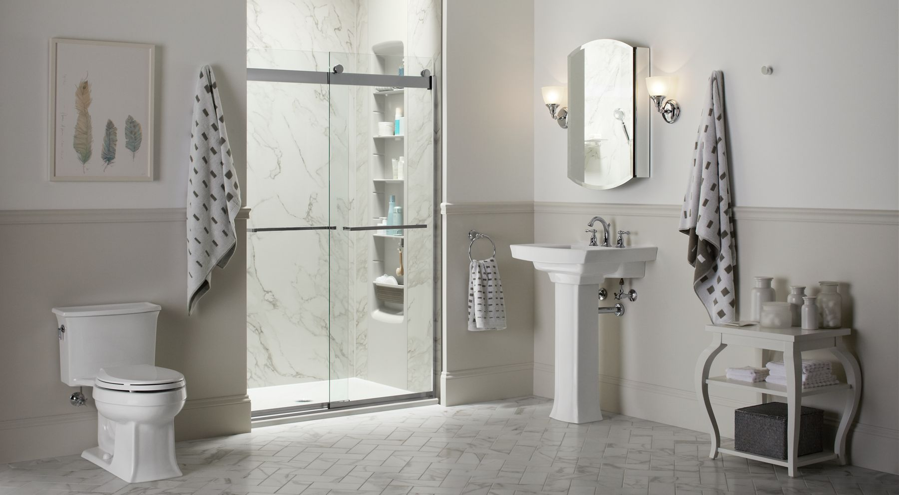 Kohler Shower : Choreograph Shower Wall and Accessory Collection Bathroom KOHLER