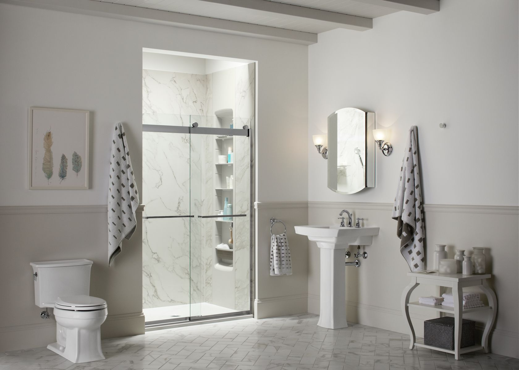 the choreograph collection is a shower system that allows you to design a shower around your needs the shower walls come in a range of colors
