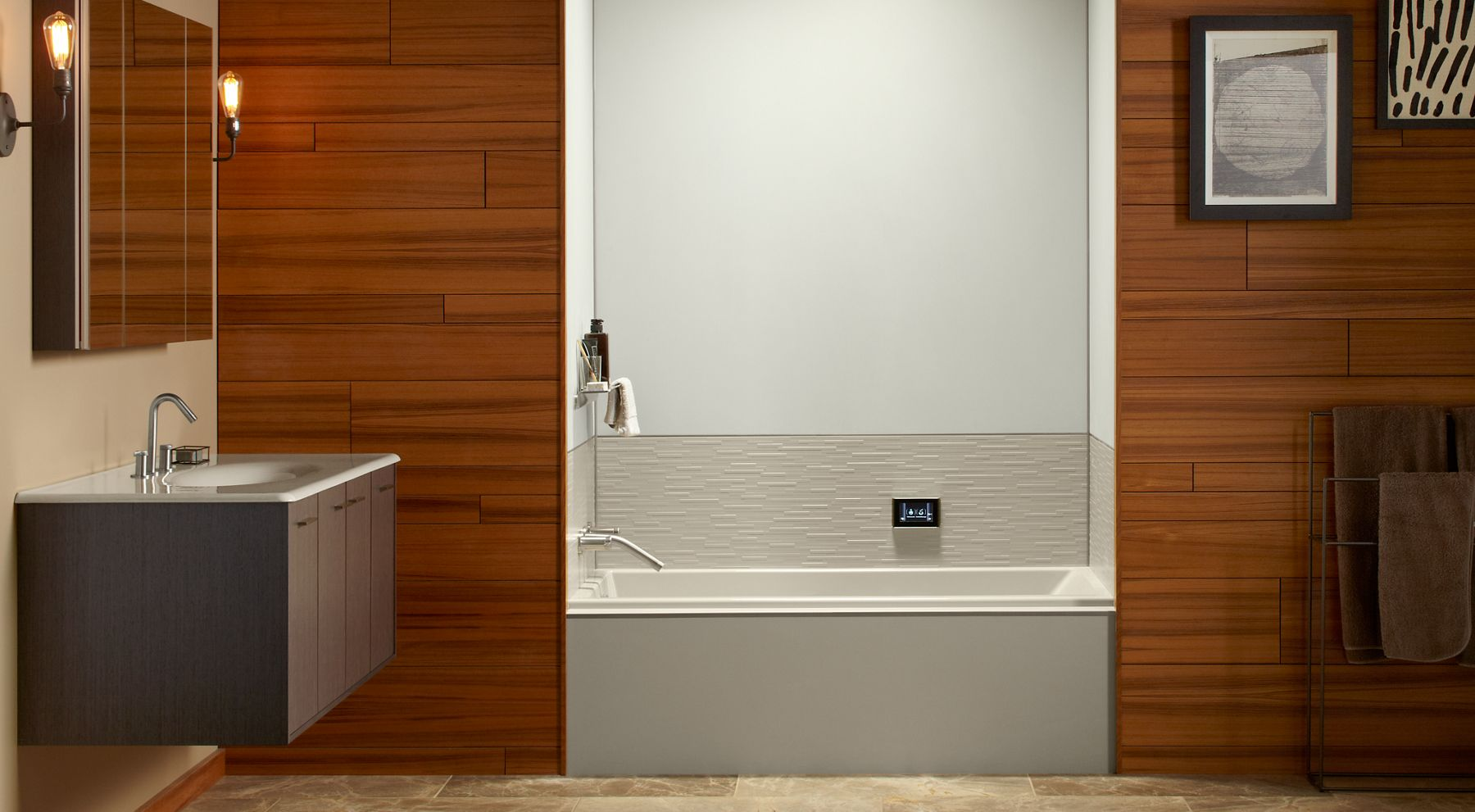 Choreograph shower wall and accessory collection for Bathroom ideas kohler