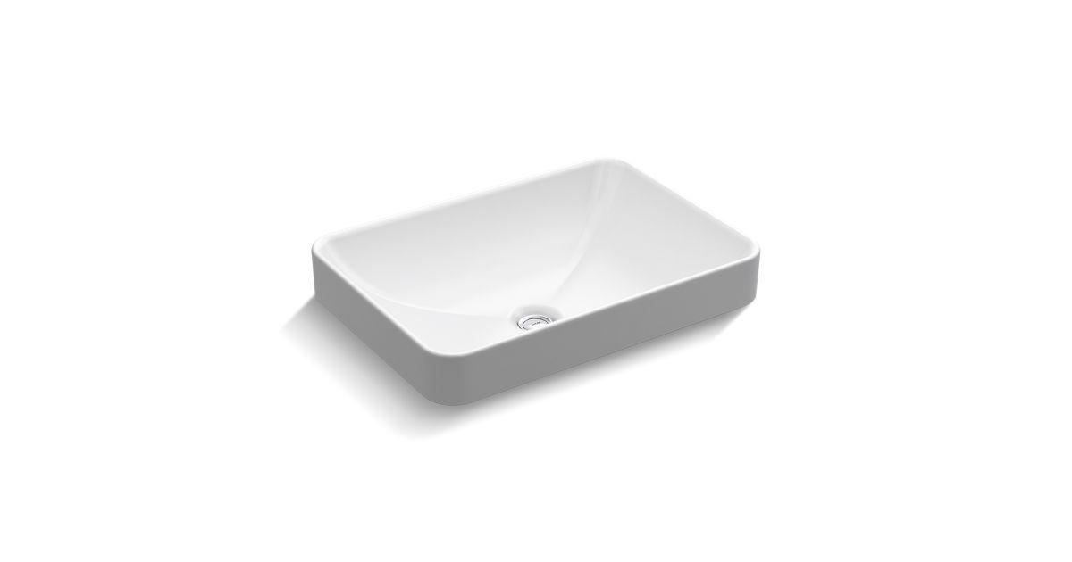 5373 vox rectangle vessel bathroom sink kohler