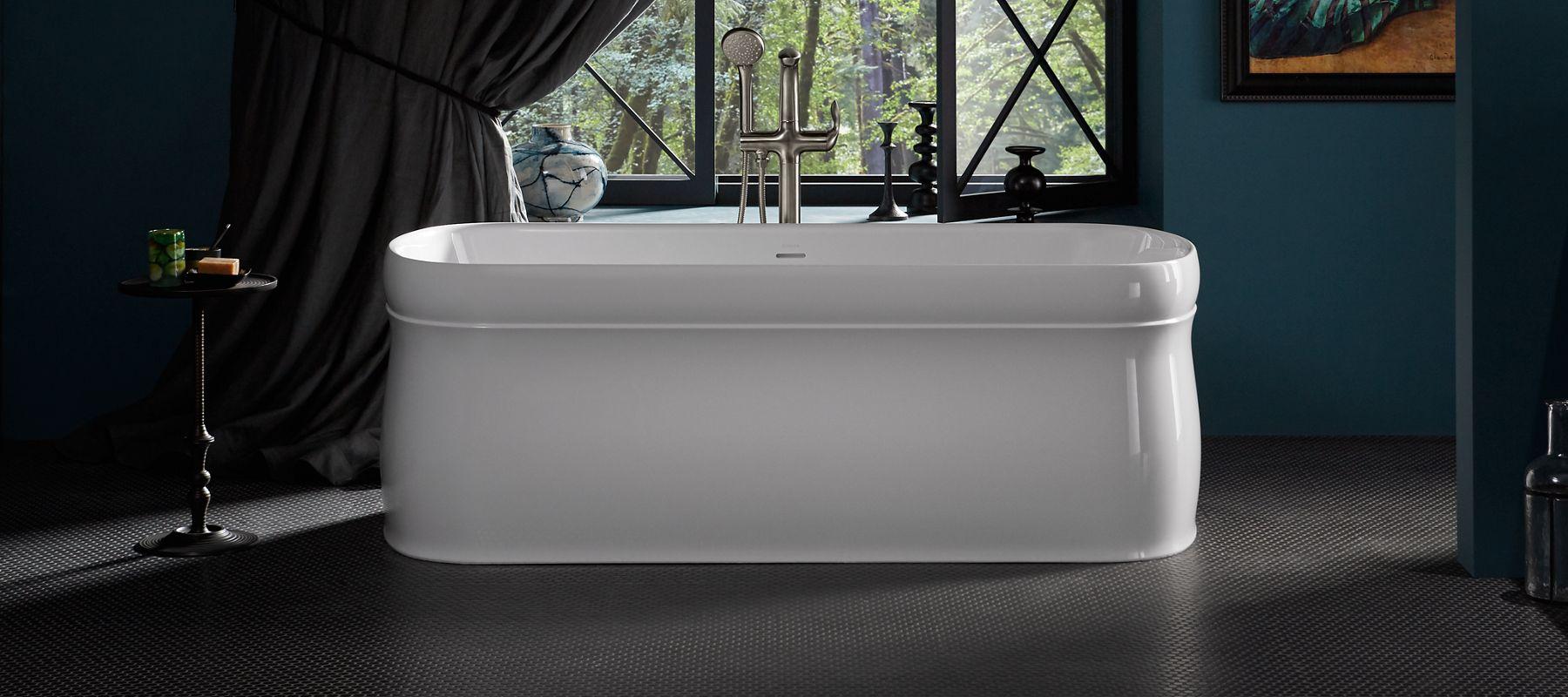 Bathtubs whirlpool bathing products bathroom kohler for How wide is a bathtub