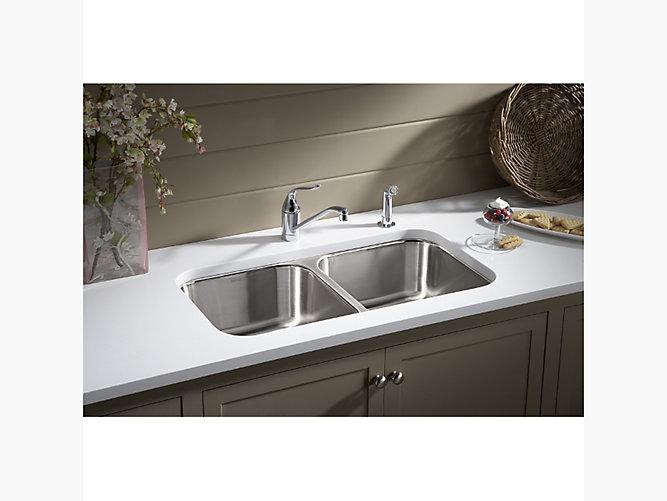 Carthage™ Undercounter Double-basin Sink, 32