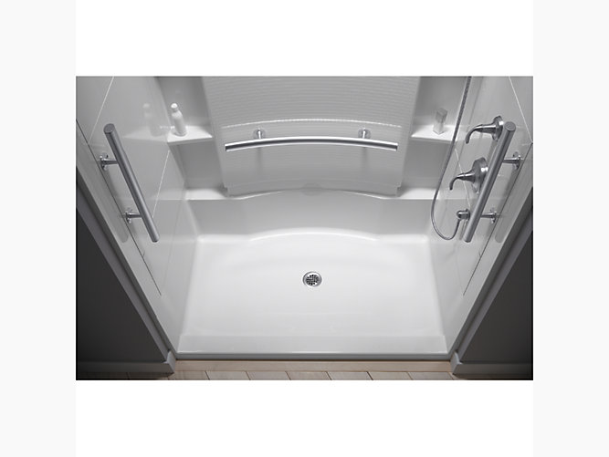 Accord 60 1 4 X 36 Seated Shower With Aging In Place Grab Bars 72290103 N Sterling 72290103 N Accord 60 Seated Shower With Aging In Place Grab Bars
