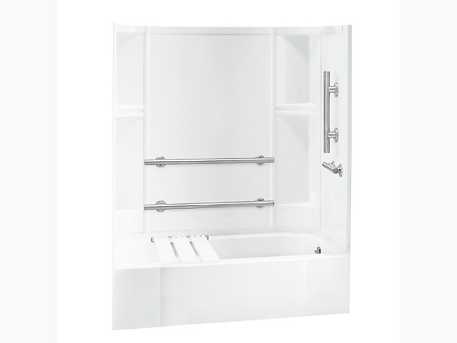 "Accord Series 7124, 60"" x 30"" ADA Bath/Shower With Grab Bars and ..."