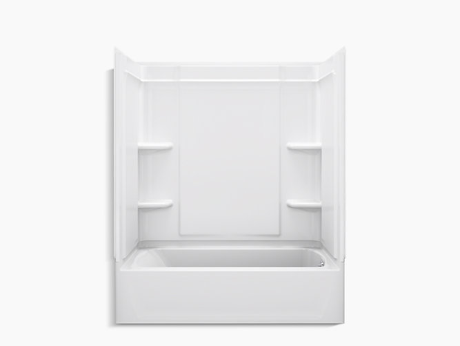 """Ensemble Medley Series 7132, 60"""" x 32"""" Bath/Shower With Aging in ..."""